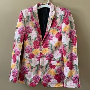 Men's ASOS floral blazer 38R